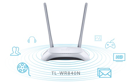 TP-Link TL-WR840N 300Mbps Wireless N Router, 2x fixní anténa